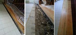 Boden / Holz-dielen für eine Wand