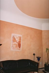 Wand / Putz mit Pigment