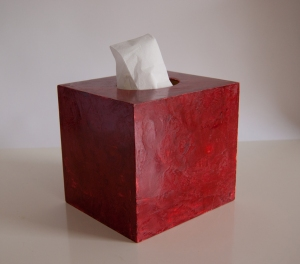 Taschentuchbox mit Marmorino